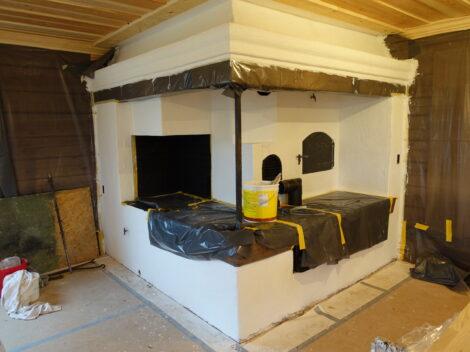 Ombyggnation av vardagsrum